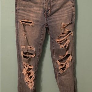 American Eagle ripped jeans high waisted